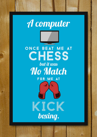 Glass Framed Posters, Computer Boxing Humour Glass Framed Poster, - PosterGully - 1