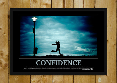 Glass Framed Posters, Confidence Motivational Glass Framed Poster, - PosterGully - 1