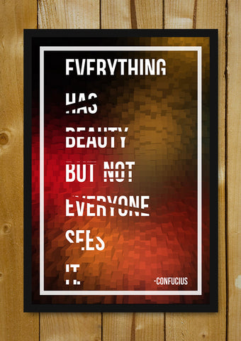 Glass Framed Posters, Confucius Beautiful Quote Glass Framed Poster, - PosterGully - 1