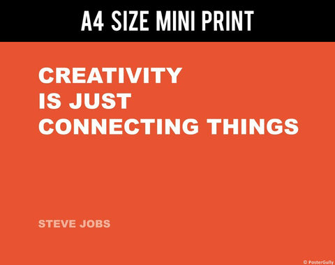 Mini Prints, Connecting | Steve Jobs | Creativity Quote | Mini Print, - PosterGully