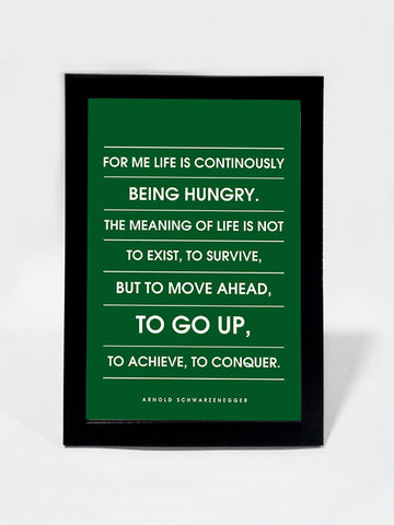 Framed Art, Conquer Arnold Schwarzenegger | Framed Art, - PosterGully