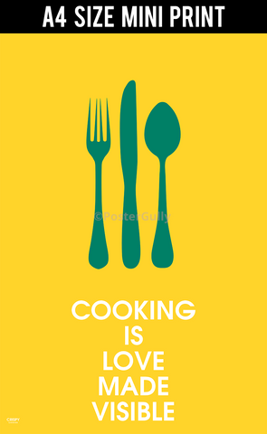 Mini Prints, Cooking With Love | Mini Print, - PosterGully