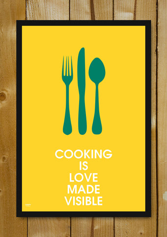 Glass Framed Posters, Cooking With Love Glass Framed Poster, - PosterGully - 1