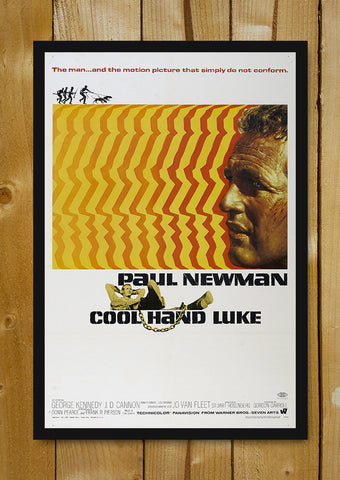 Glass Framed Posters, Cool Hand Luke Glass Framed Poster, - PosterGully - 1