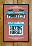 Glass Framed Posters, Create Yourself Quote Glass Framed Poster, - PosterGully - 1
