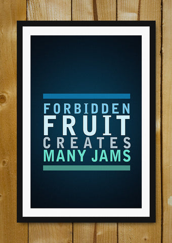 Glass Framed Posters, Creates Many Jams Glass Framed Poster, - PosterGully - 1