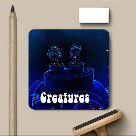 PosterGully Coasters, Creatures Coaster | Artist: Devraj Baruah, - PosterGully