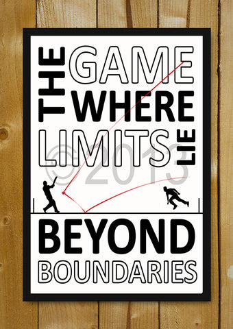 Glass Framed Posters, Cricket Beyond Boundaries Glass Framed Poster, - PosterGully - 1