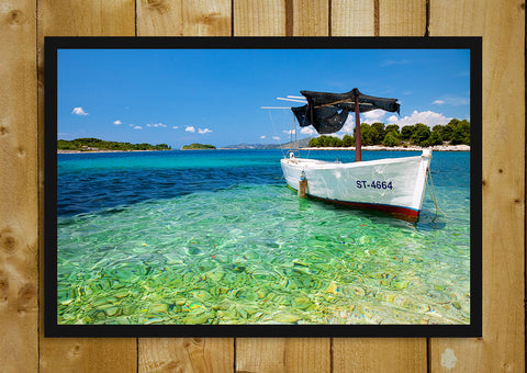 Glass Framed Posters, Croatian Boat Glass Framed Poster, - PosterGully - 1