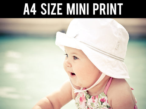 Mini Prints, Cute Baby Girl Hat | Mini Print, - PosterGully