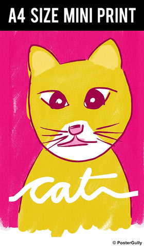 Mini Prints, Cute Cat | Mini Print, - PosterGully