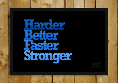 Glass Framed Posters, Daft Punk Harder, Better, Faster, Stronger Glass Framed Poster, - PosterGully - 1