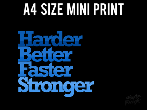 Mini Prints, Daft Punk | Harder, Better, Faster, Stronger | Mini Print, - PosterGully