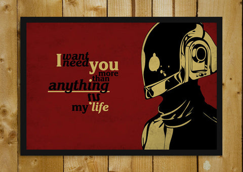 Glass Framed Posters, Daft Punk Quote Glass Framed Poster, - PosterGully - 1