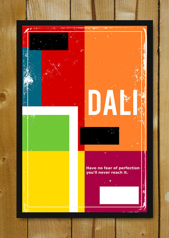 Glass Framed Posters, Dali Perfection Vintage Motivational Glass Framed Poster, - PosterGully - 1
