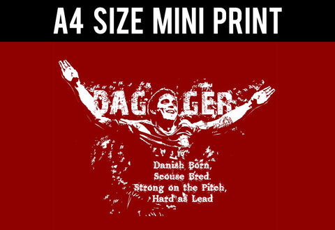 Mini Prints, Daniel Agger | Liverpool | Mini Print, - PosterGully