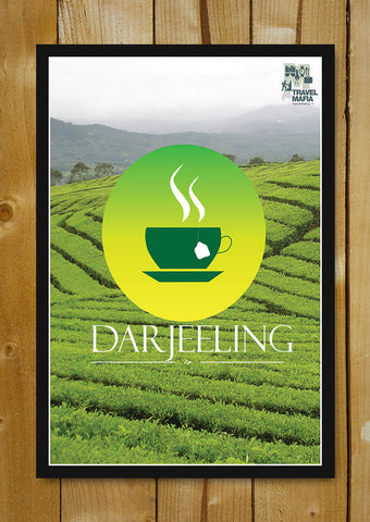 Glass Framed Posters, Darjeeling A Cup Of Tea Glass Framed Poster, - PosterGully - 1