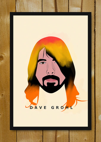 Glass Framed Posters, Dave Grohl Foo Fighters Nirvana Glass Framed Poster, - PosterGully - 1