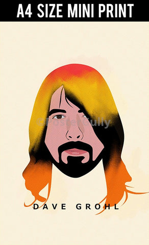 Mini Prints, Dave Grohl | Foo Fighters | Nirvana | Mini Print, - PosterGully