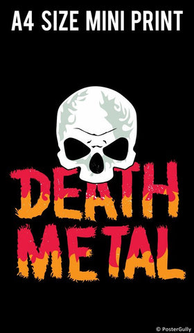 Mini Prints, Death Metal Skull  | Mini Print, - PosterGully