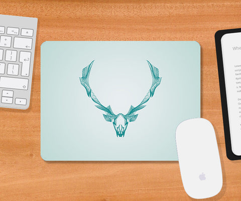 Mousepads, Deer Symmetric Line Mousepad | Artist: Rohit Malhotra, - PosterGully
