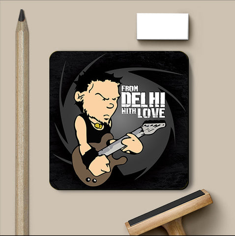 PosterGully Coasters, Delhi Love Coaster | Artist: MyArtini Bar, - PosterGully