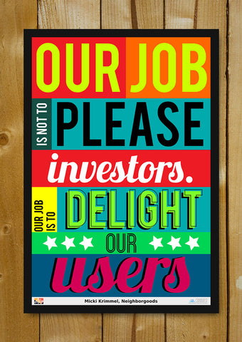 Glass Framed Posters, Delight Users Micki Krimmei Glass Framed Poster, - PosterGully - 1