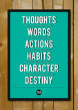 Glass Framed Posters, Destiny | Tao Motivational Quote Glass Framed Poster, - PosterGully - 1