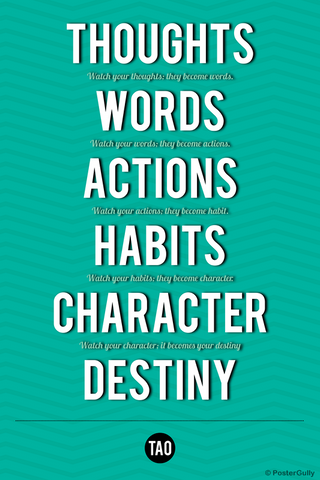 Wall Art, Destiny-Tao Motivational Quote, - PosterGully