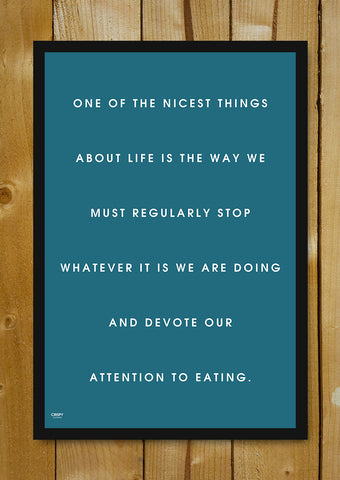 Glass Framed Posters, Devote Attention To Food Glass Framed Poster, - PosterGully - 1