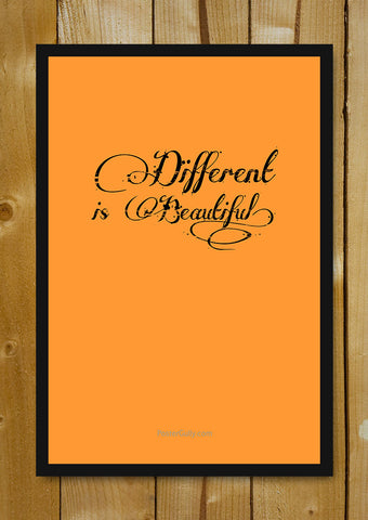 Glass Framed Posters, Different Is Beautiful Glass Framed Poster, - PosterGully - 1