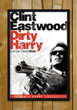 Glass Framed Posters, Dirty Harry Clint Eastwood Glass Framed Poster, - PosterGully - 1