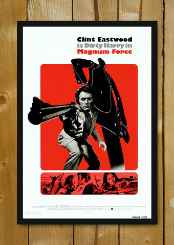 Glass Framed Posters, Dirty Harry Magnum Force Glass Framed Poster, - PosterGully - 1