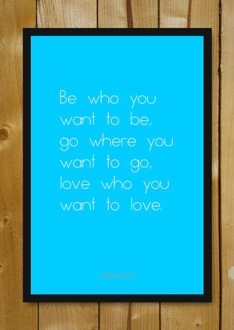 Glass Framed Posters, Do What You Love Glass Framed Poster, - PosterGully - 1