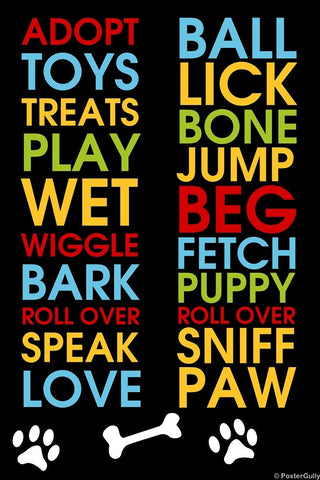 Wall Art, Dog Sniff Paw Bark, - PosterGully