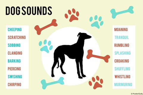 Wall Art, Dog Sounds, - PosterGully