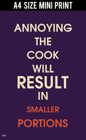 Mini Prints, Don't Annoy The Cook | Mini Print, - PosterGully