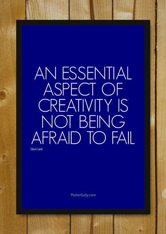 Glass Framed Posters, Don't Be Afraid To Fail Glass Framed Poster, - PosterGully - 1