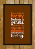 Glass Framed Posters, Don't Be Boring Glass Framed Poster, - PosterGully - 1