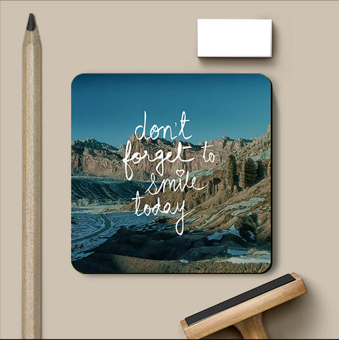 PosterGully Coasters, Don't Forget Smile Coaster, - PosterGully
