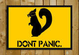 Glass Framed Posters, Don't Panic Glass Framed Poster, - PosterGully - 1