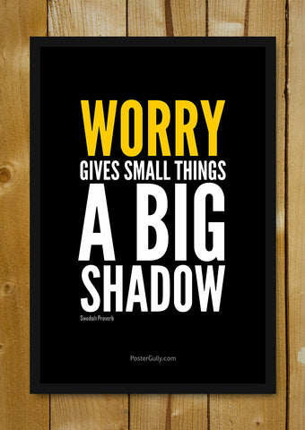 Glass Framed Posters, Don't Worry. Be Happy. Glass Framed Poster, - PosterGully - 1