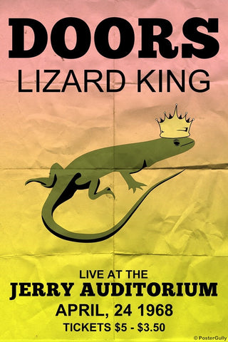 Wall Art, Doors Lizard King | Jerry Concert, - PosterGully