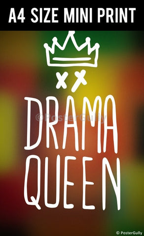 Mini Prints, Drama Queen | Mini Print, - PosterGully