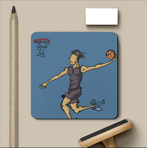 PosterGully Coasters, Dream Dunk Coaster | Artist: Abhishek Singh, - PosterGully