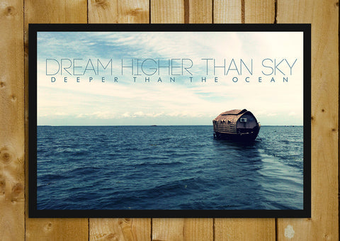 Glass Framed Posters, Dream Higher Than Sky Glass Framed Poster, - PosterGully - 1