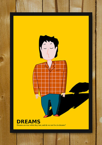 Glass Framed Posters, Dreams Are True While They Last Glass Framed Poster, - PosterGully - 1