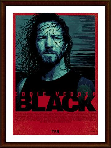 Wall Art, Eddie Vedder | Black Artwork, - PosterGully