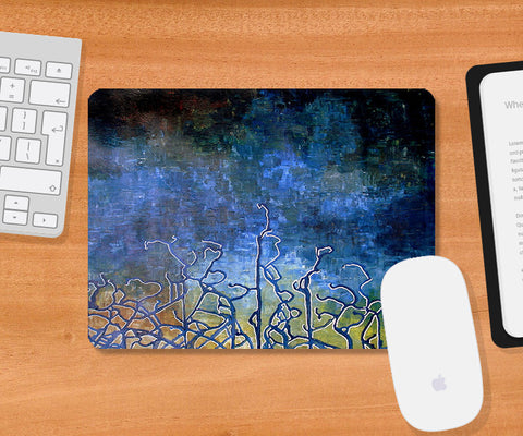 Mousepads, Earth Color Blue Mousepad | Artist: Sunanda Puneet, - PosterGully