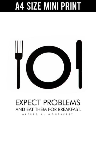 Mini Prints, Eat Problems For Breakfast | Mini Print, - PosterGully